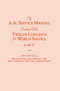 The A.A. Service Manual combined with Twelve Concepts for World Service link